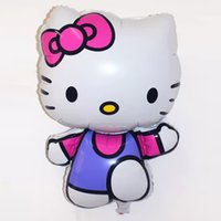 big kitty cats - 75 cm Big Size Cute Hello Kitty Foil Balloon Baby Globos Toy Birthday Wedding Party Decoration KT Cat Helium Balloon