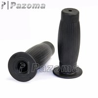 Wholesale PAZOMA Motorcycle Rubber Cafe Racer quot Handlebar Hand Grips Bobber Chopper Vintage Black Hot Selling
