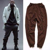 Cheap 2016 TOP Kanye west season 1 oversized Jogging pants men's harem Pants HipHop kpop Casual pocket zipper pencil pants Label