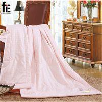 Wholesale Natural Mulberry Silk Comforter for summer Twin Queen King Full size Duvet Blanket Quilt white pink Filler bedding