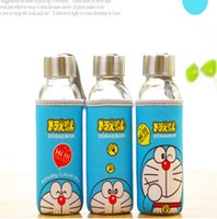 Wholesale fashion cartoon pattern water bottle Doraemon glasses ml sport drinkware student flask D16090101
