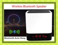 aux lamp - Portable bluetooth mini speaker V3 Speaker LED Light Lamp Alarm Clock speaker with Support AUX Audio Input Handsfree Call