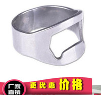Wholesale Beer Openers Silver Stainless Steel Finger Ring Bottle Opener Beer