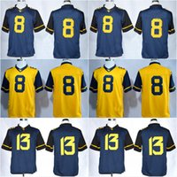 west virginia - 8 Karl Joseph Andrew Buie West Virginia Mountaineers WVU College Football Jerseys New Style Cheap Stitched Jersey Embroidery logos