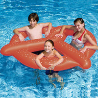 Wholesale Swimming Pool toys Bread Swimming Ring PVC Inflatable Pool Float Donut Pool Inflatable Floats Pool toys Beach Toys