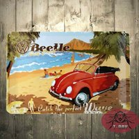 Wholesale Catch the way Beetle Surf Coast Metal Sign Tin Sign x12 inch B