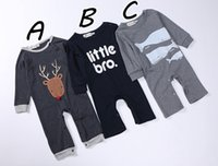 baby xmas costumes - Xmas Christmas Deer Romper Baby Boy Clothing New Autumn Newborn Infant Long Sleeve Letter Cotton Jumpsuit Costume Toddler One Clothes