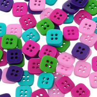 Wholesale New Square Resin Buttons Fit Sewing And Scrapbooking x11mm Random Mixed Over Free Express order lt no track
