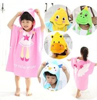 Wholesale Hot Sale Baby Hooded Softable Baby Bathrobe Lovely Anmimal Baby Cloak Cape Baby Bath Towel Infant Bath Robe Child Beach Towels
