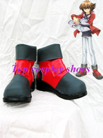Wholesale Freeshipping Yu Gi Oh GX Jaden Yuki Cosplay Boots shoes Version custom made for Halloween Christmas festival