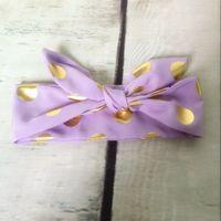 al por mayor envoltura púrpura recién nacido-Nueva venda elegante de las muchachas, envolturas metálicas de la cabeza de los bebés del oro púrpura elegante, venda nacarante del lazo superior del nudo, venda del bebé del turbante