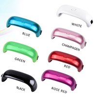 Wholesale Nail Dryer Nail Gel Polish Mini Nail Dryer LED UV Lamp for Curing Dryer Curing Lamp Led Rainbow Lamp for Nail Art Tools