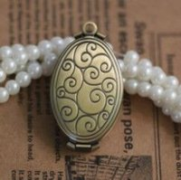 american chat - 20 mm Wallet haped PHOTO LOCKET Blank Base ANTIQUE BRONZE Necklace Pendant Chat Shaped Fashion PHOTO LOCKET Frame pendant