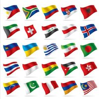 Wholesale Personalized Two Sides Printed All World Country Flags CM Polyester National Flags