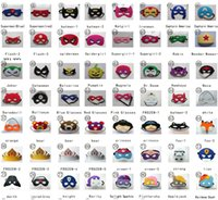 Wholesale 136 styles Superman Mask Eye Shade for Superman Cape Halloween Mask for Children Cosplay Eye Mask Party Masquerade Masks Performance Mask