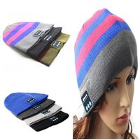 army speaker - New Bluetooth music hats Soft Warm Beanie Cap with Stereo Headphone Headset Speaker Wireless Microphone Knitted hat
