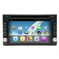 Wholesale 2 din Android Quad Core Universal Car DVD GPS Navi Radio with Bluetooth Support G OBD Digital TV GHZ