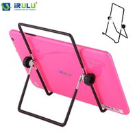 Wholesale GBB Adjustable Portable Folding Metal Desktop Stand Tablet Holder For quot Tablet PC Black New Hottest
