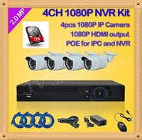 Wholesale 4CH cctv mp P Network Security IP Camera channel NVR System support POE NVR Kit home video surveillance
