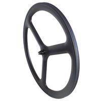 Wholesale 700c spokes road bikes carbon wheels tri spoke carbon wheelset three spoke carbon wheels