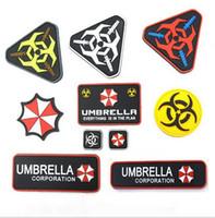 Wholesale BZ0021 X CM PVC Resident Evil Umbrella Corporation Logo Uniform Costume Badge STICK ON Patch