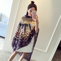 Wholesale New Spring Women Silk Muffler Women Rounuan Scarf Scarves Shawl Dual Long Scarves Chinese Style Printed Scarves CM