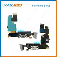 Wholesale New White Gray For iphone G plus Headphone Audio Charger Charging Port Dock Connector Ribbon Flex Cable iphone6 Replacement