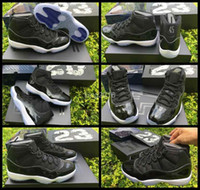 Wholesale 2016 Retro XI Space Jams Basketball Shoes For Men With Real Carbon Fiber Mens Retros s Sport Quality Sneakers