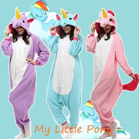 Wholesale Hot Anime My Little Pony Unicorn Onesie Kigurumi Fancy Dress cosplay Costume Hoody Pajamas Sleepwear Size S M L XL