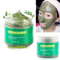 acne organic - 60g Green Bean Mud Masks Face Care Cleansing Mask Organic Deep Blackheads Cleanser Removing Whitening Acne Treatment