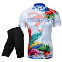 bicycle jerseys custom - Tasdan Cycling Jerseys Sets Clothing Cycling Wear Men Short Sleeve Bicycle Jerseys Suit Custom Cycling Jerseys Short Sets Gel Pad