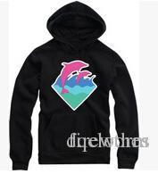 baseball dolphins - Lovers Pullover Hoodie Hip Hop Baseball Jacket High Quality Men Women Casual Pink Dolphin Sweatshirt Coats Autumn And Winter