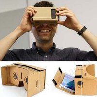 Wholesale DIY Google Cardboard Mobile Phone Virtual Reality D Glasses Unofficial Cardboard Google Cardboard Experience Version VR Storm Mirror
