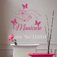 american beauty nails - D563 Vinyl wall sticker Beauty Nail Art Manicure Wall stickers for kids room Decor Wall Decal for bedroom