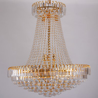 Wholesale Luxury Royal Empire Golden Europen Crystal Chandelier Large Contemporary Lighting French Style Hotel Lobby Design