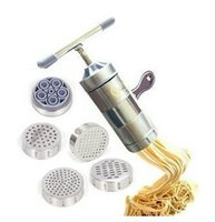 Cheap Stainless Steel Noodle Maker With 5 Models Manual Noodles Press Pasta Machine Kitchen Tools Vegetable Fruit Juicer