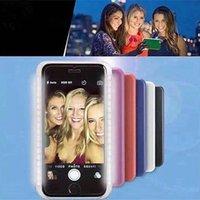 Wholesale HOT Colors Luxury luminated LED Case Selfie PC Plastic Hard Case for iPhone s Plus s plus Phone Cover Case