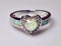 Wholesale Retail Fashion Fine White Fire Opal Rings Sterling Sliver Jewelry For Women RJL1528003