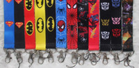 badge lanyard lot - New cartoon Superhero Fashion Lanyards Straps For ID Badge Mobile Phone