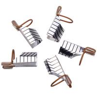 Acheter Ensemble acrylique double forme-Gros-5pcs / set réutilisable double Argent / Or Formulaire de Nail Pour Nail Art Making C Courbe acrylique Conseils français