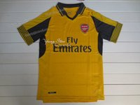 arsenal fans - New Arsenal away yellow Football Shirts fans version soccer jersey thai quality Football Jerseys Single T Shirt Soccer Short sleeve