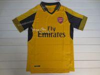 arsenal soccer t shirts - New Arsenal away yellow Football Shirts fans version soccer jersey thai quality Football Jerseys Single T Shirt Soccer Short sleeve