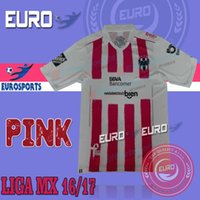 Wholesale 2016 Thai Quality Monterrey Pink Soccer Jerseys Atlas Chivas Club America Tigres UNAM PUMAS SPECIAL Maillot de foot Football shirts