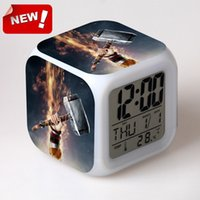 antique iron toys - Cartoon Super Heros Iron Man Led Alarm Clock Backlight Small Digital Clock Toy for Children