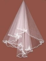 Wholesale Applique Edge T5 Birdcage Bridal Veils Accessories Tulle Wedding Veil Favor Short Beach White Ivory Cheap Dresses