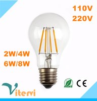 angle housing - Edison Dimming led filament light W W W W Edison bulb filament E27 V V Glass Housing lamp angle A60
