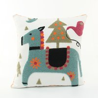 baby decorative pillow - High Quality Embroider House Cotton Linen Throw Pillow Sofa Office Back Cushion Baby Room Decorative WP276