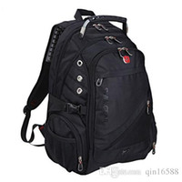 Wholesale 2015 Swiss army bag pack inch Laptop backpack Men and women business double shoulder Travel backpack School computer bag M01