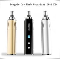 Cheap Genuine New Vape Pen eCapple IV-1 Kit Intelligent Vaporizer 320-439F Glass Mouthpieces Dry Herb Vaporizers Temperature Control Vaporizer Mod