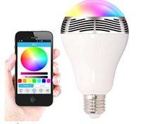 Wholesale OEM mini Colorful bulb LED lamp mini bluetooth wireless speaker Wireless speaker with smart App control